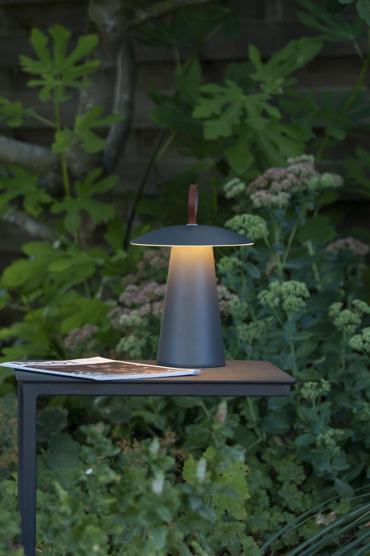 Lucide LA DONNA Tafellamp Buiten-Antrac.-Ø19,7-LED Dimb.