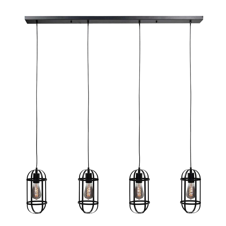 Highlight Hanglamp Longo 4 lichts zwart