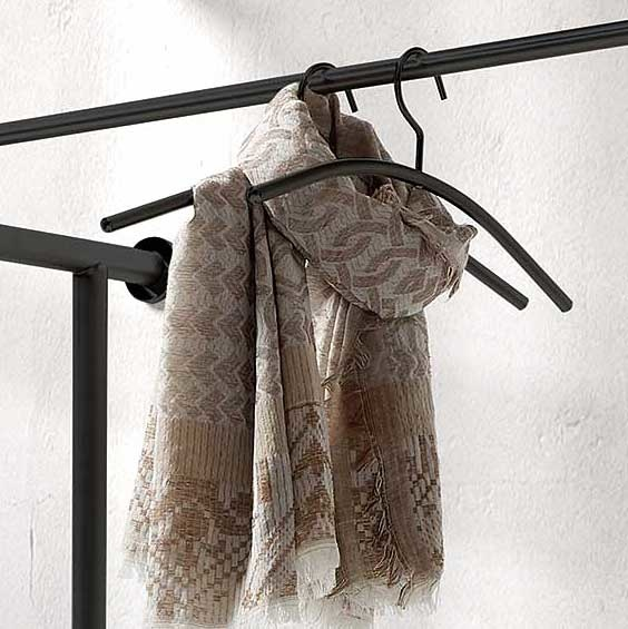 Bijnen Kapstok hangers GRAPHITE 107