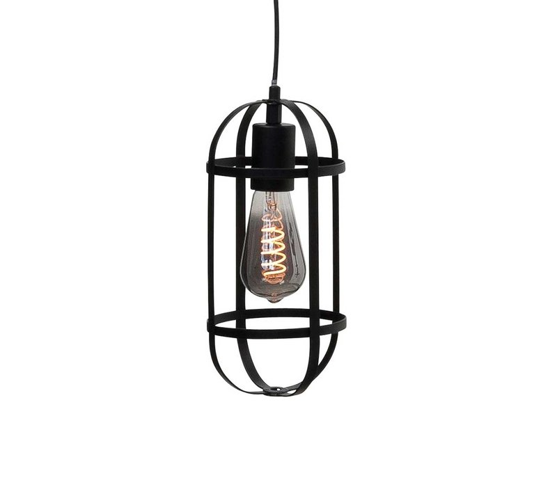 Hanglamp Longo 3 lichts rond zwart