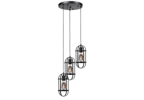 Highlight Hanglamp Longo 3 lichts rond zwart