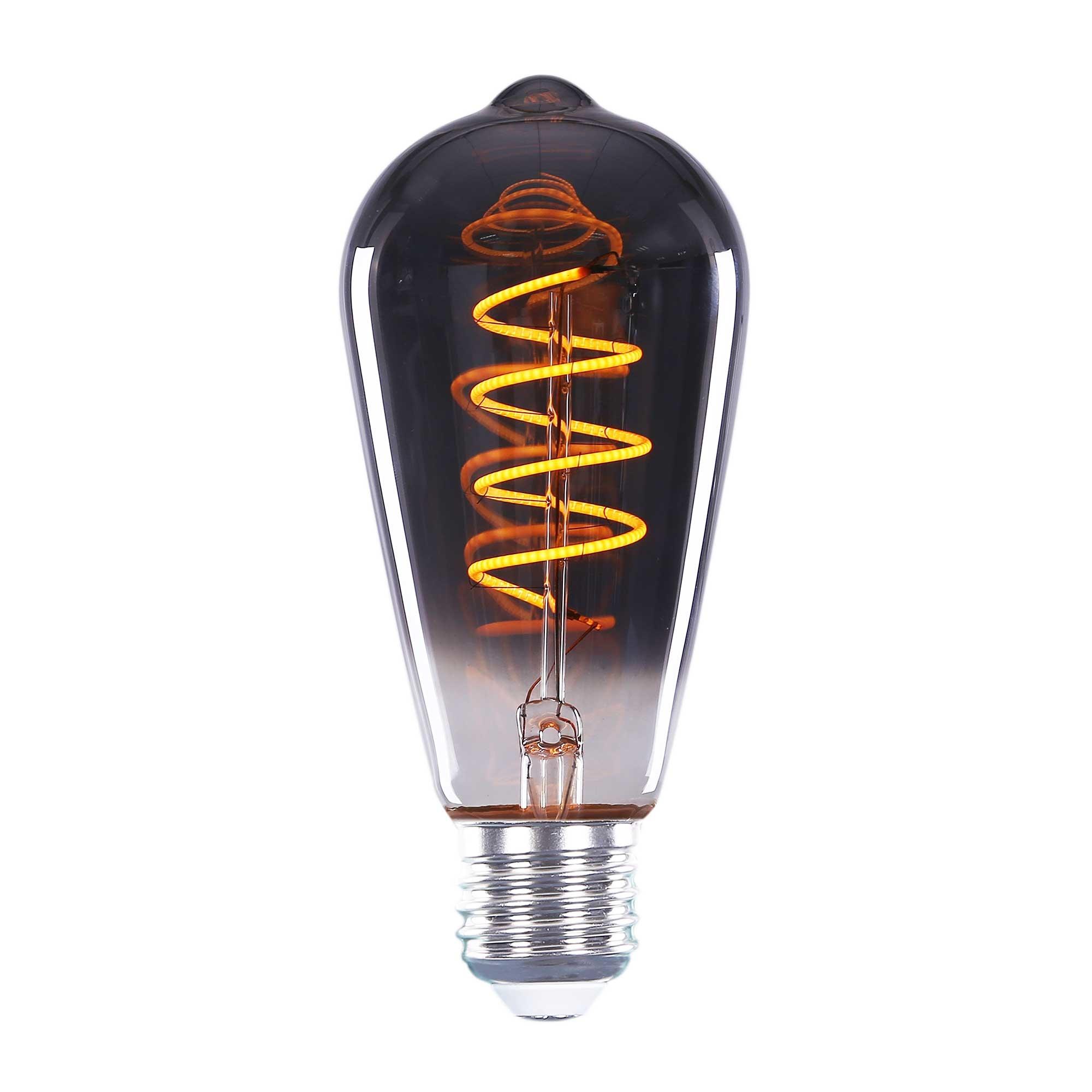 Highlight Lamp LED ST64 4W 100LM 2200K Dimbaar Rook