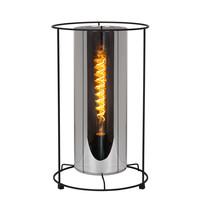 DOUNIA Tafellamp E27/40W H 41cm Mat Zwart / smok