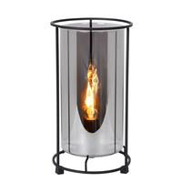DOUNIA Tafellamp E27/40W H 27.5cm Mat Zwart / smok
