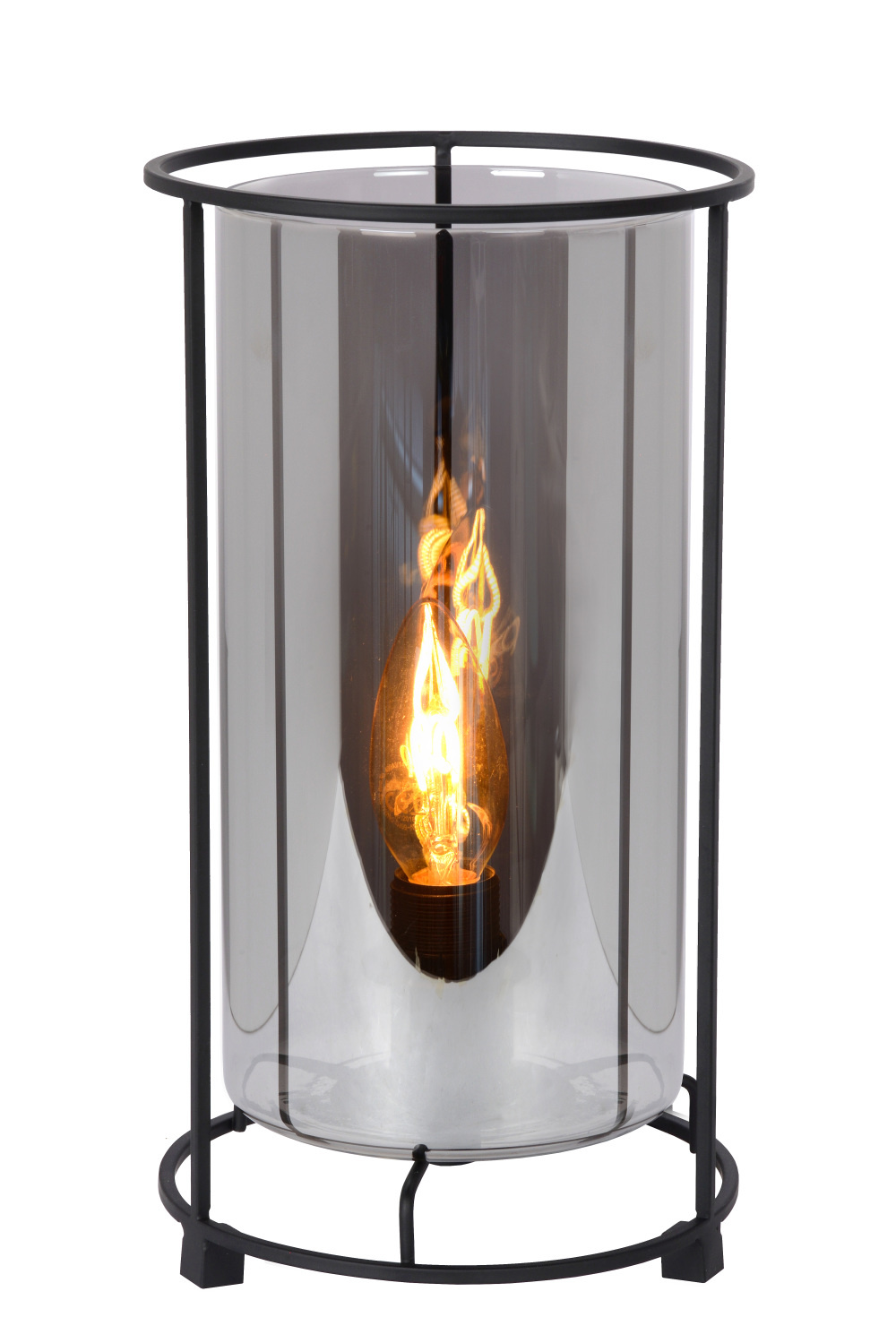 Lucide DOUNIA Tafellamp E27/40W H 27.5cm Mat Zwart / smok