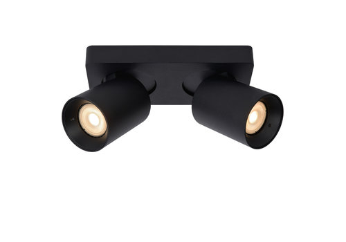 Lucide NIGEL Plafondspot-Zwart-LED DTW-2xGU10-5W