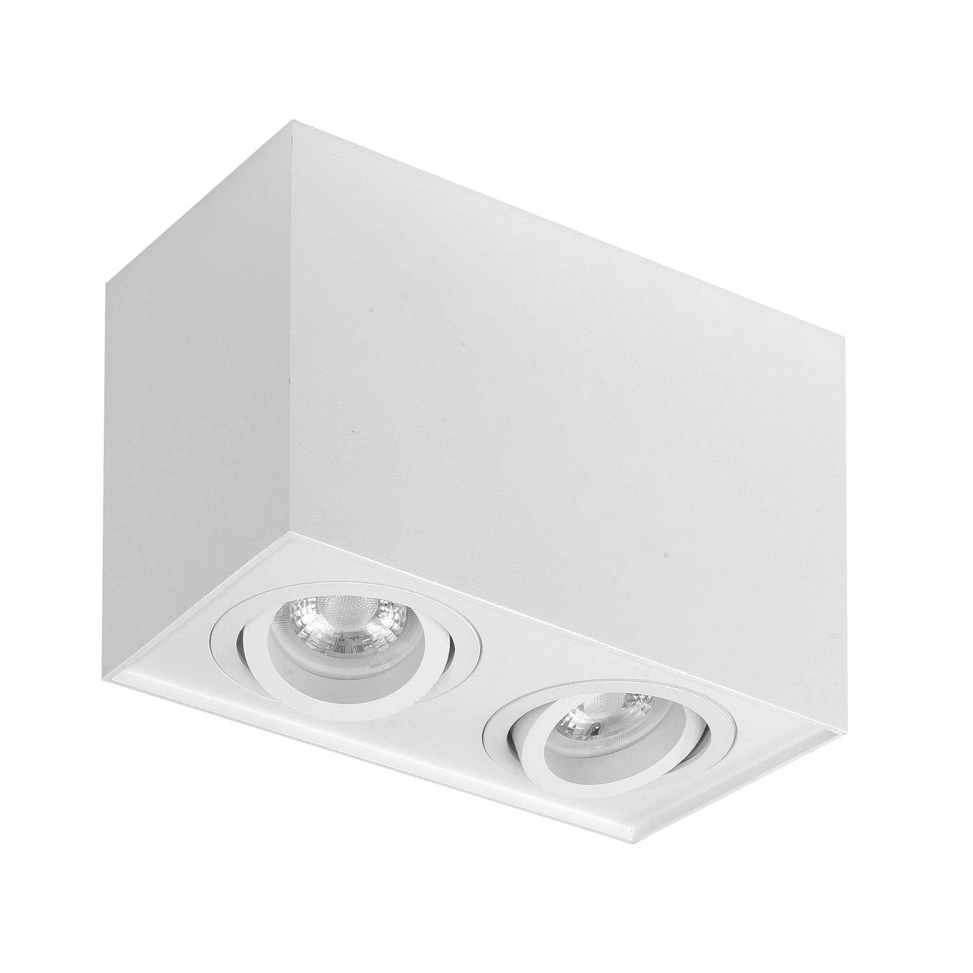 Highlight Spot Maxi Rebel 2 lichts rechthoek wit