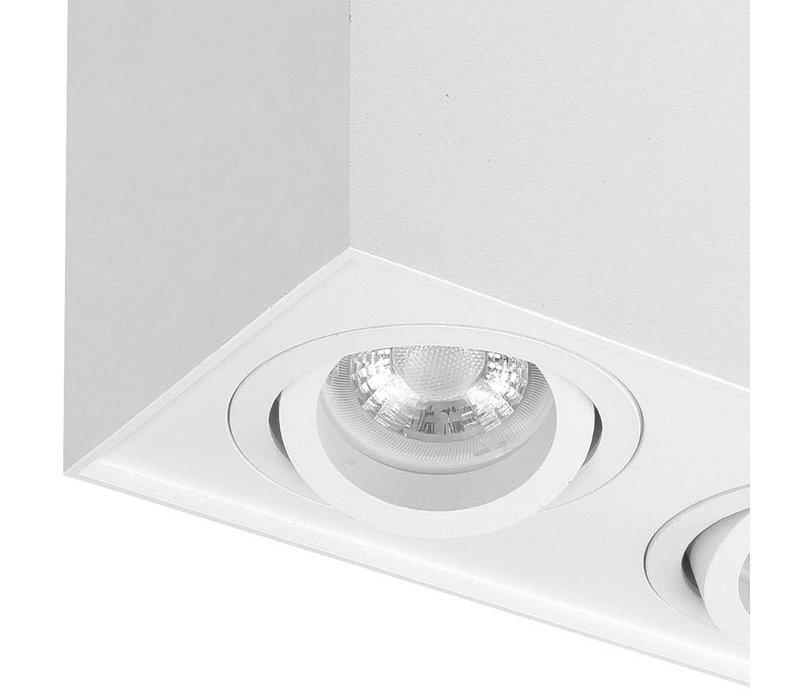Spot Maxi Rebel 2 lichts rechthoek wit