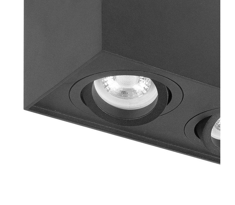 Spot Maxi Rebel 2 lichts rechthoek zwart