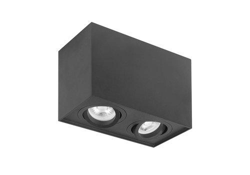 Highlight Spot Maxi Rebel 2 lichts rechthoek zwart