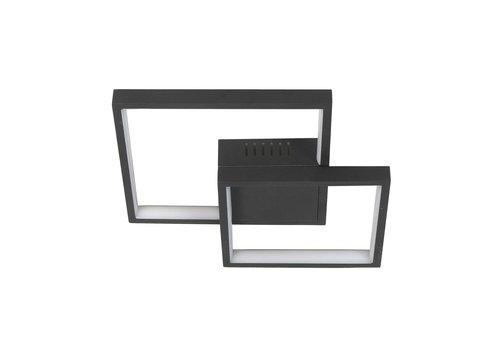 Highlight Plafondlamp Piazza vierkant B  32 cm zwart