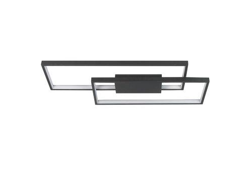 Highlight Plafondlamp Stretto rechthoek L  69 cm B 29 cm zwart