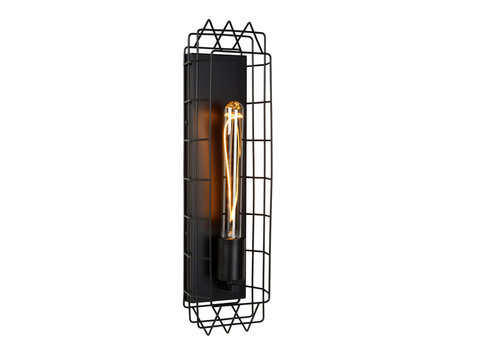 Lucide LATTICE Wandlamp E27/40W Zwart