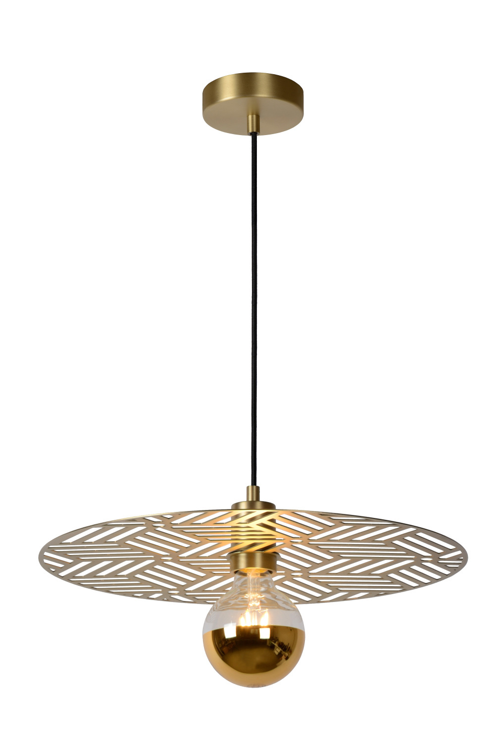 Lucide OLENNA Hanglamp-Mat Go.-Ø40-1xE27-40W-Staal