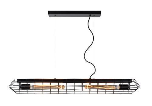 Lucide LATTICE Hanglamp-Zwart-2xE27-40W-Staal