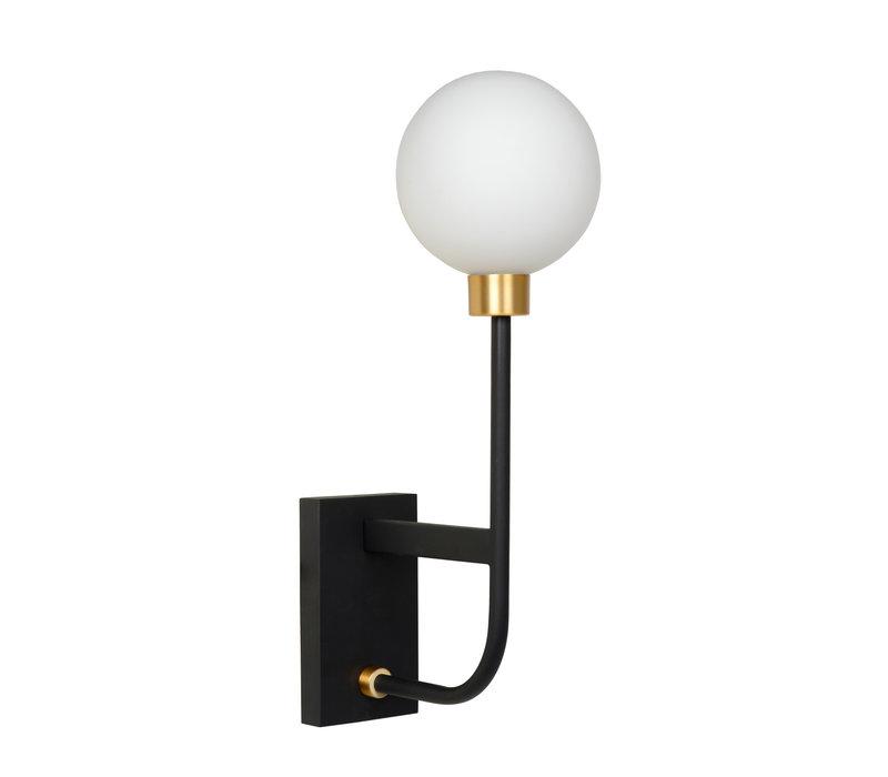 BEREND Wandlamp Badkamer 1xG9/33W 13/21/40cm Zwart