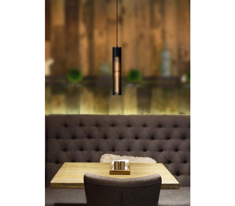 LIONEL Hanglamp 1xE27/40W Zwart