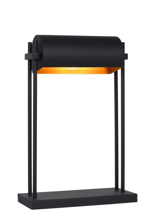 Lucide ELIAS Tafellamp-Zwart-1xE27-60W-Staal