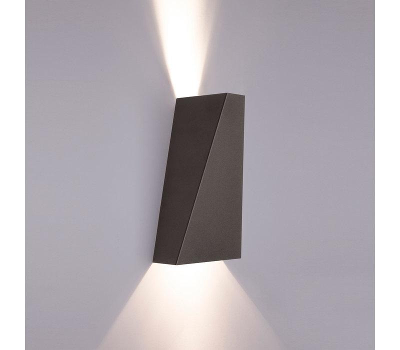 Wandlamp Narwik 2 lichts H 24,5 cm zwart