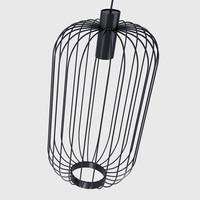 Hanglamp Cage Ø 30 cm zwart