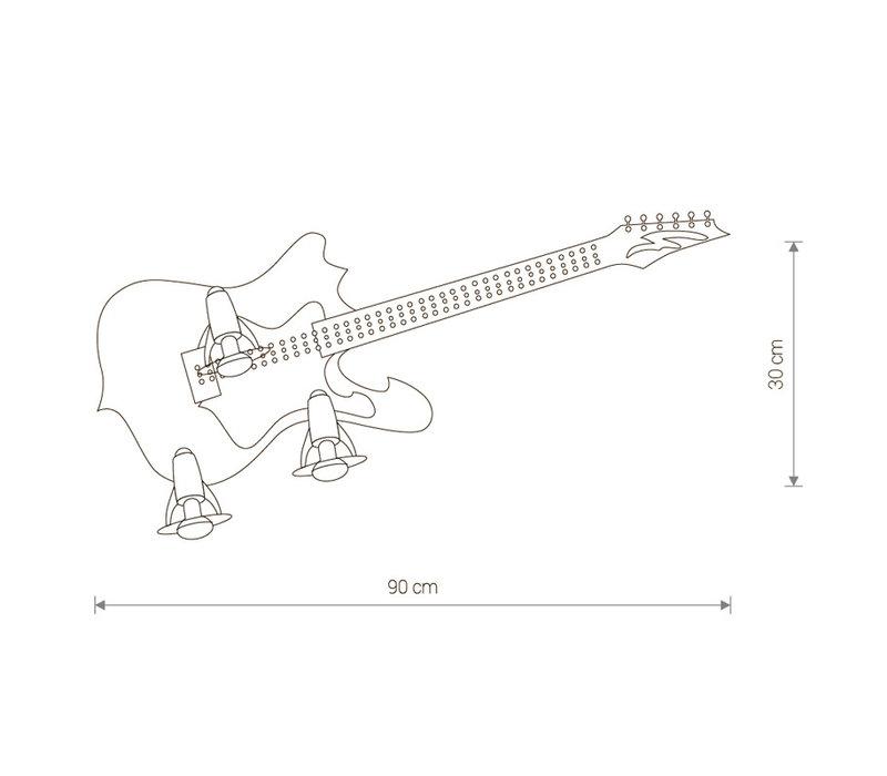 Wandlamp Gitarra L 90 cm H 30 cm zwart