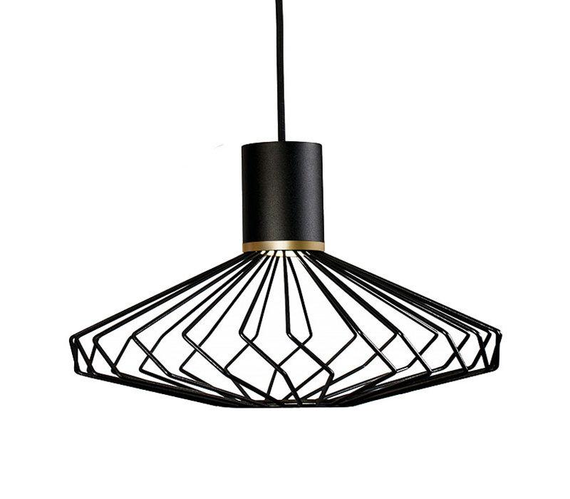Hanglamp Pico 3 lichts Ø 43 cm zwart-goud