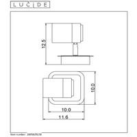 LENNERT Plafondspot 5W/GU10 Mat Zwart