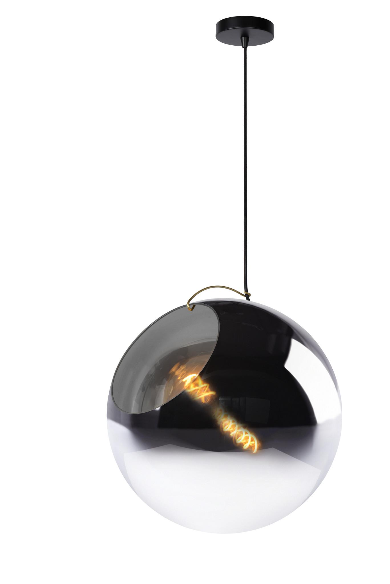 Lucide JAZZLYNN Hanglamp-Fumé-Ø40-1xE27-60W-Glas