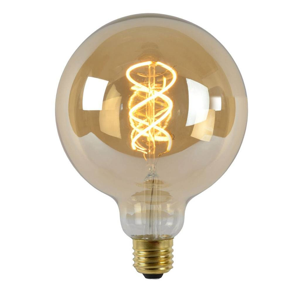 Lucide G125 Fil. lamp-Amber-LED Dimb.-1xE27-5W-2200K