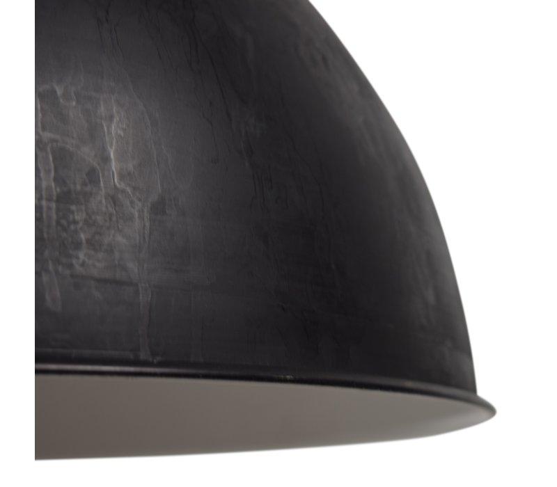 Hanglamp Dome XL Ø 50 cm ruw Zwart