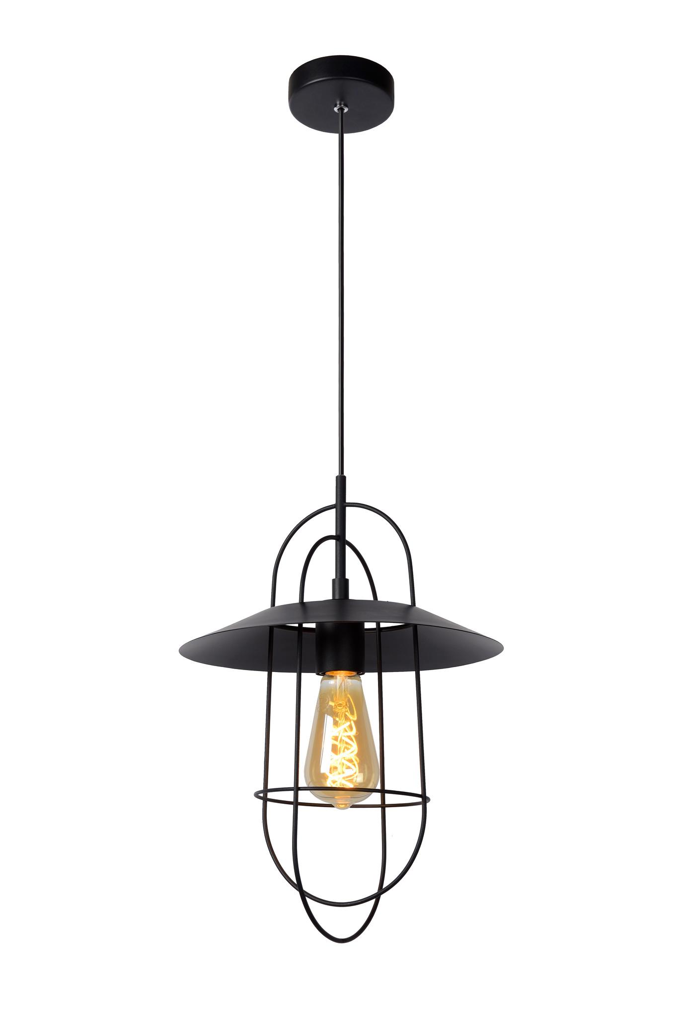 Lucide MASSON Hanglamp E27/40W Zwart