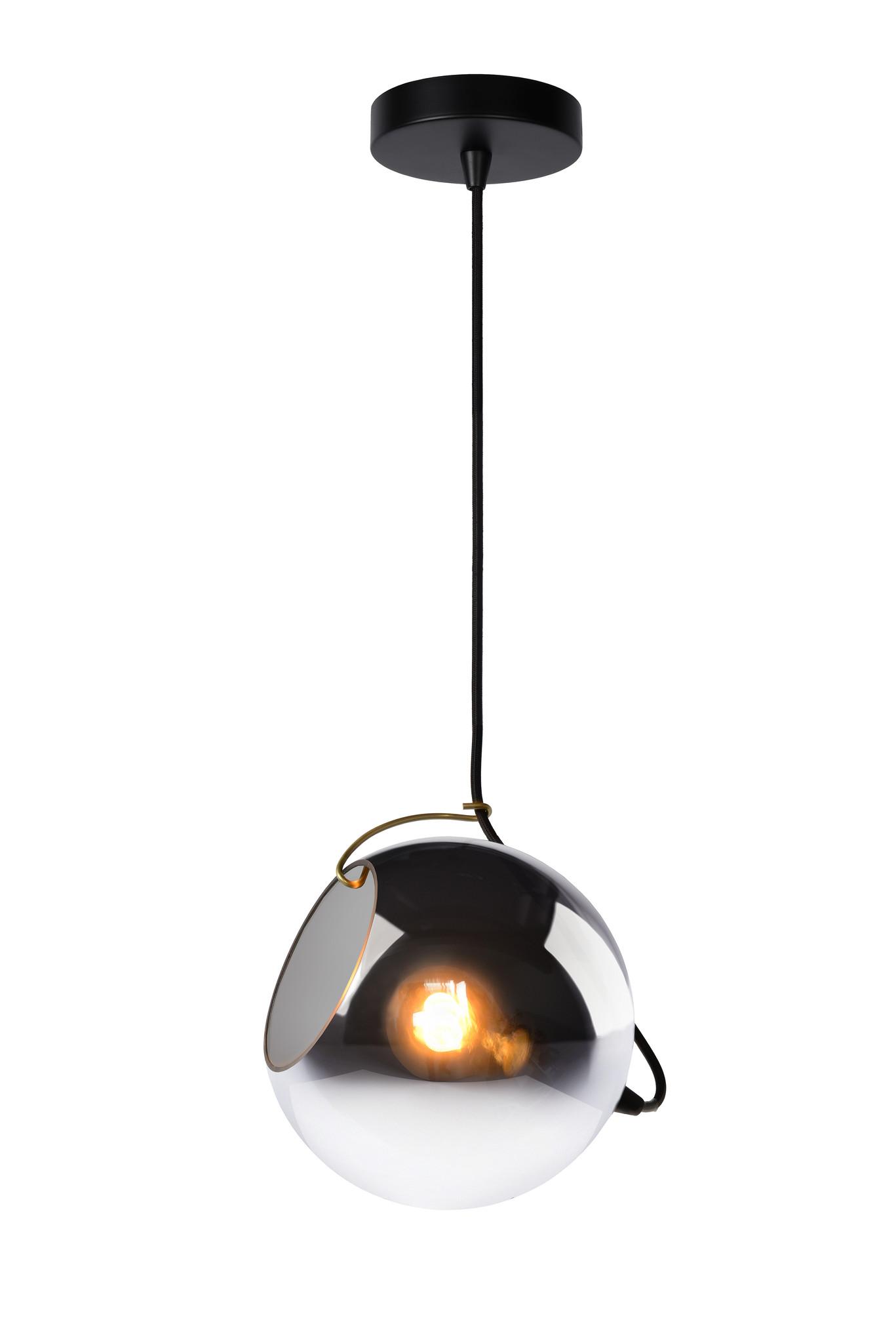 Lucide JAZZLYNN Hanglamp-Fumé-Ø20-1xE27-60W-Glas
