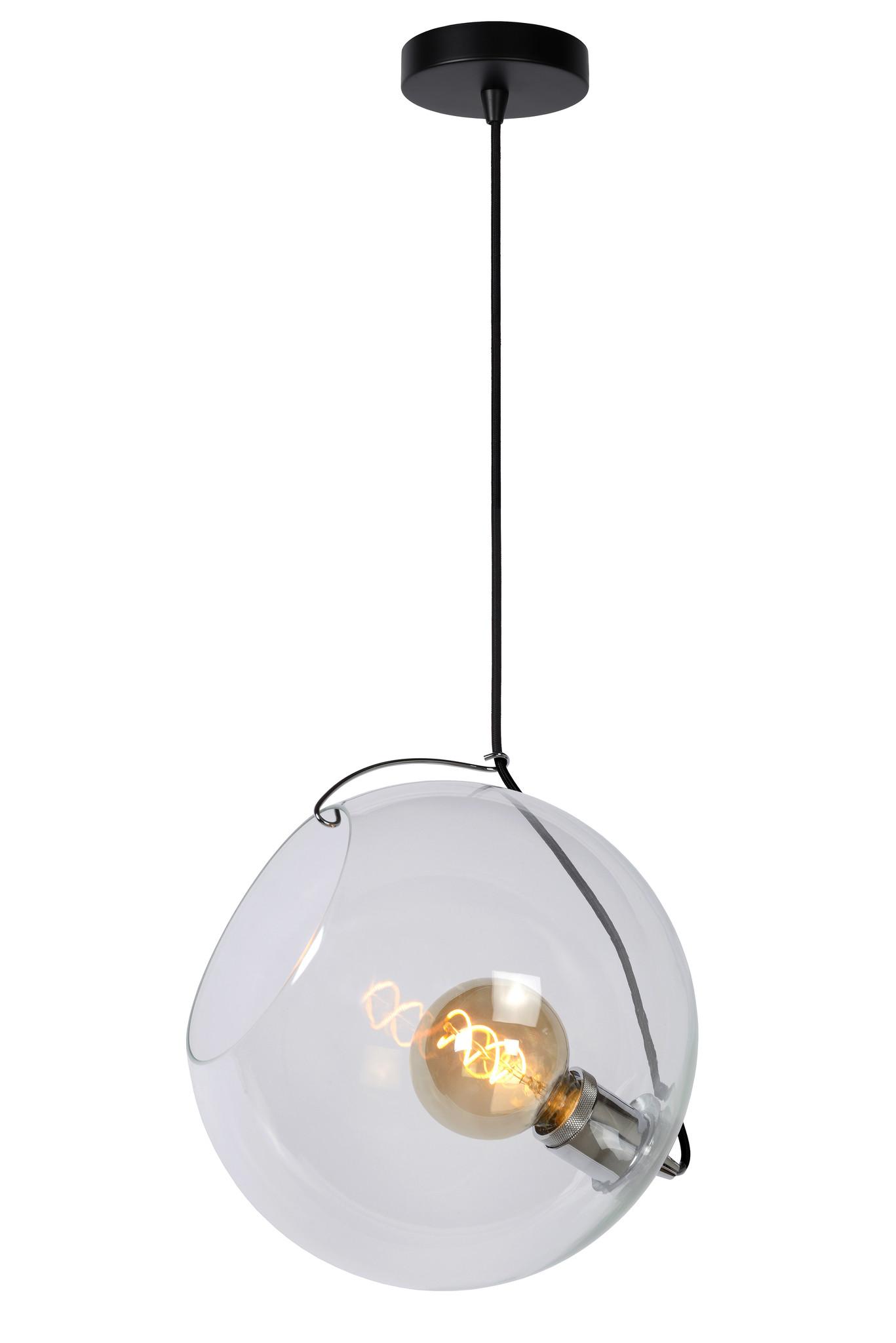 Lucide JAZZLYNN Hanglamp E27 Ø30cm Helder glas