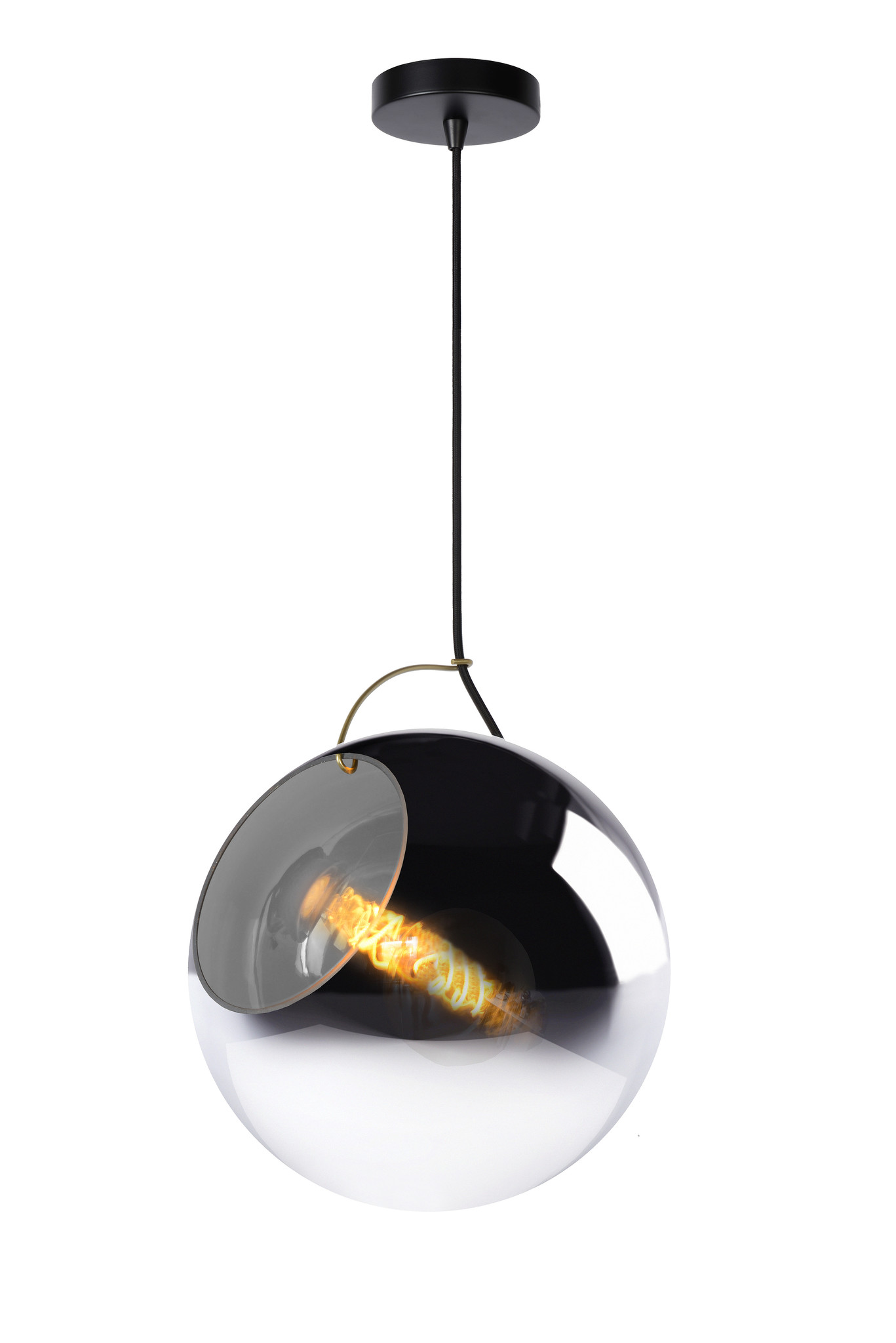 Lucide JAZZLYNN Hanglamp-Fumé-Ø30-1xE27-60W-Glas
