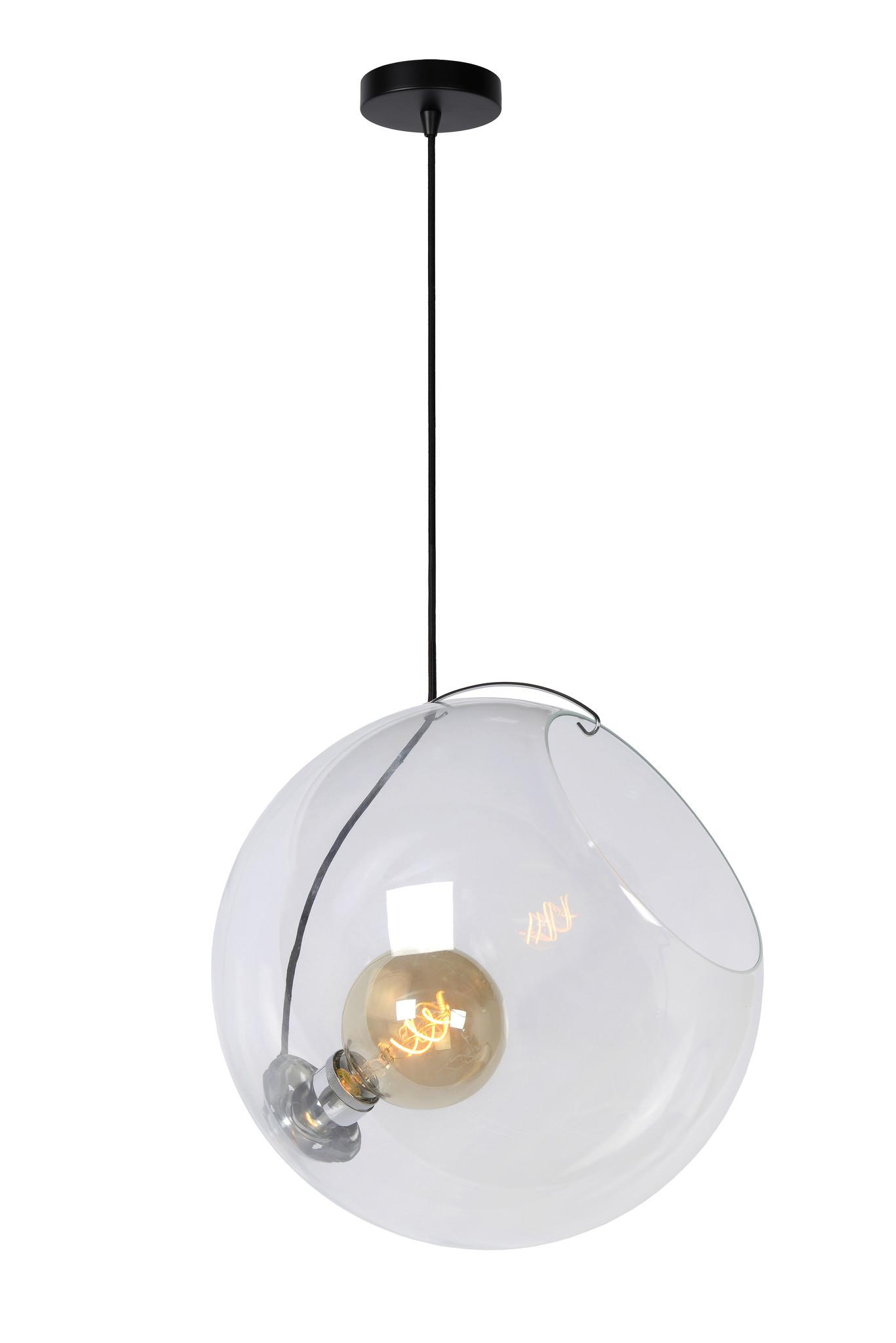 Lucide JAZZLYNN Hanglamp-Transp.-Ø40-1xE27-60W-Glas