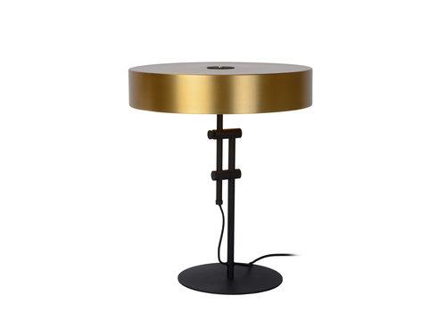 Lucide GIADA Tafellamp 2x E27 /40W Mat Zwart/Mat Goud