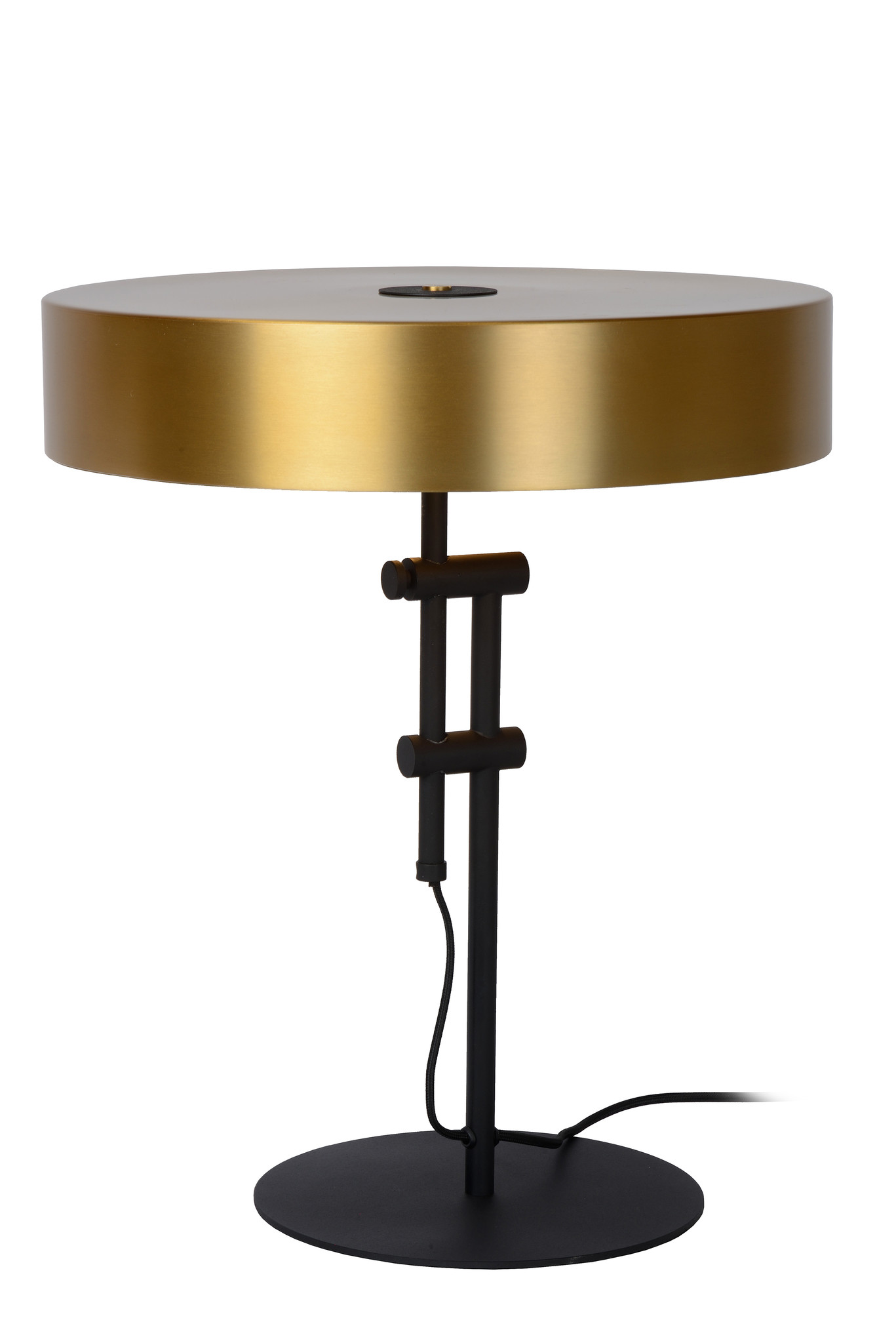 Lucide GIADA Tafellamp-Mat Go.-Ø40-2xE27-60W-Staal