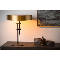 GIADA Tafellamp 2x E27 /40W Mat Zwart/Mat Goud
