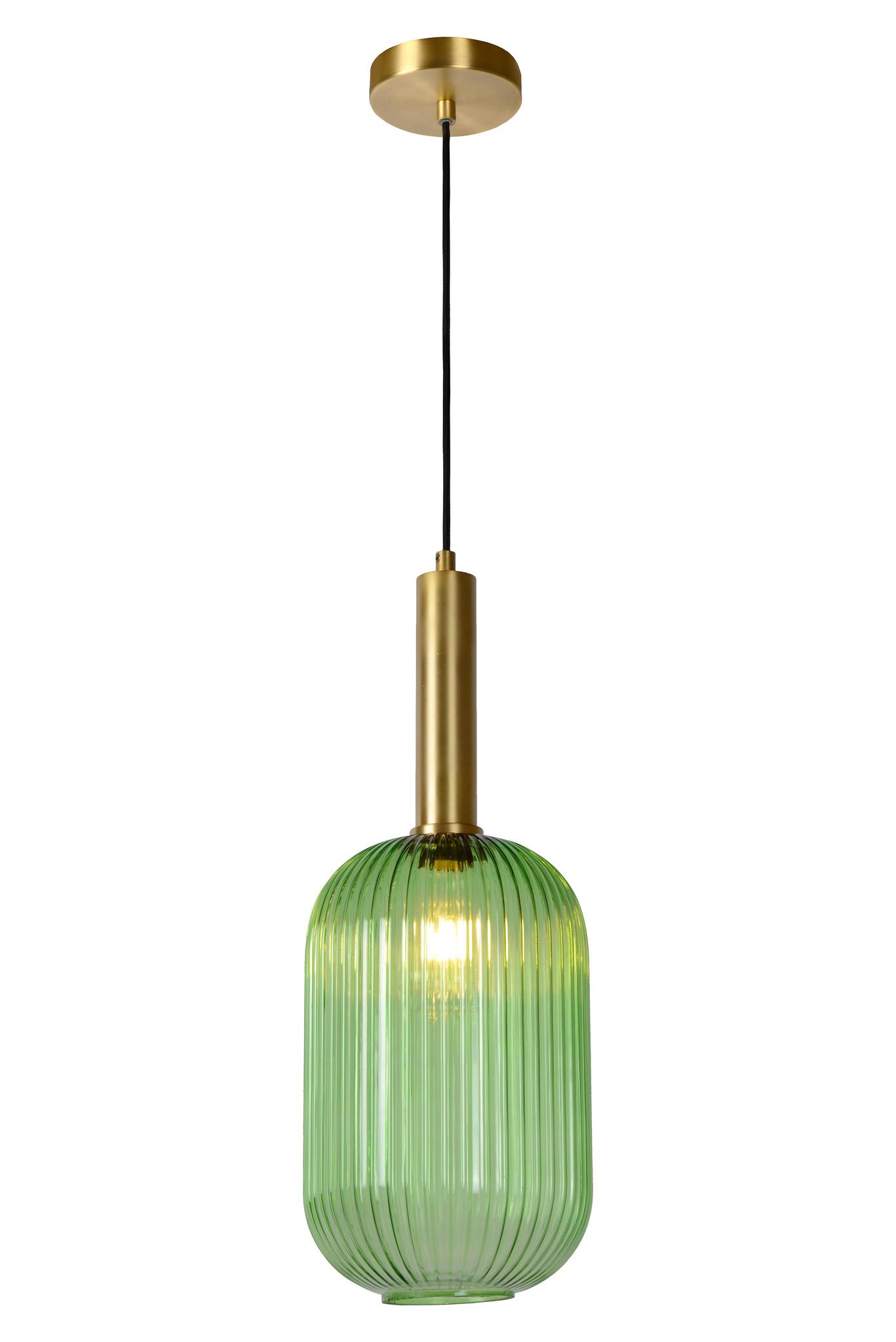 Lucide MALOTO Hanglamp Ø 20cm E27/40W Groen/Messing