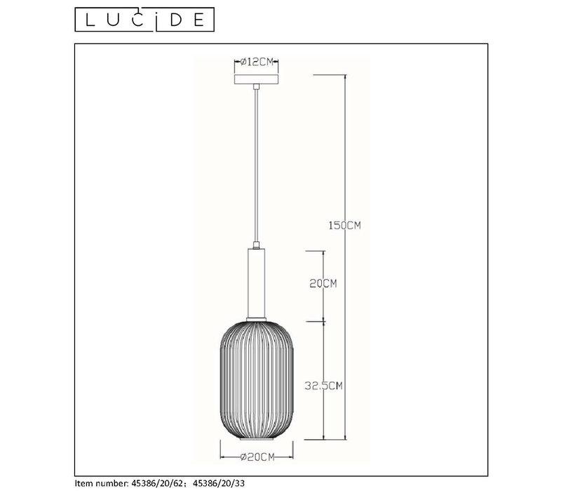 MALOTO Hanglamp Ø 20cm E27/40W Groen/Messing