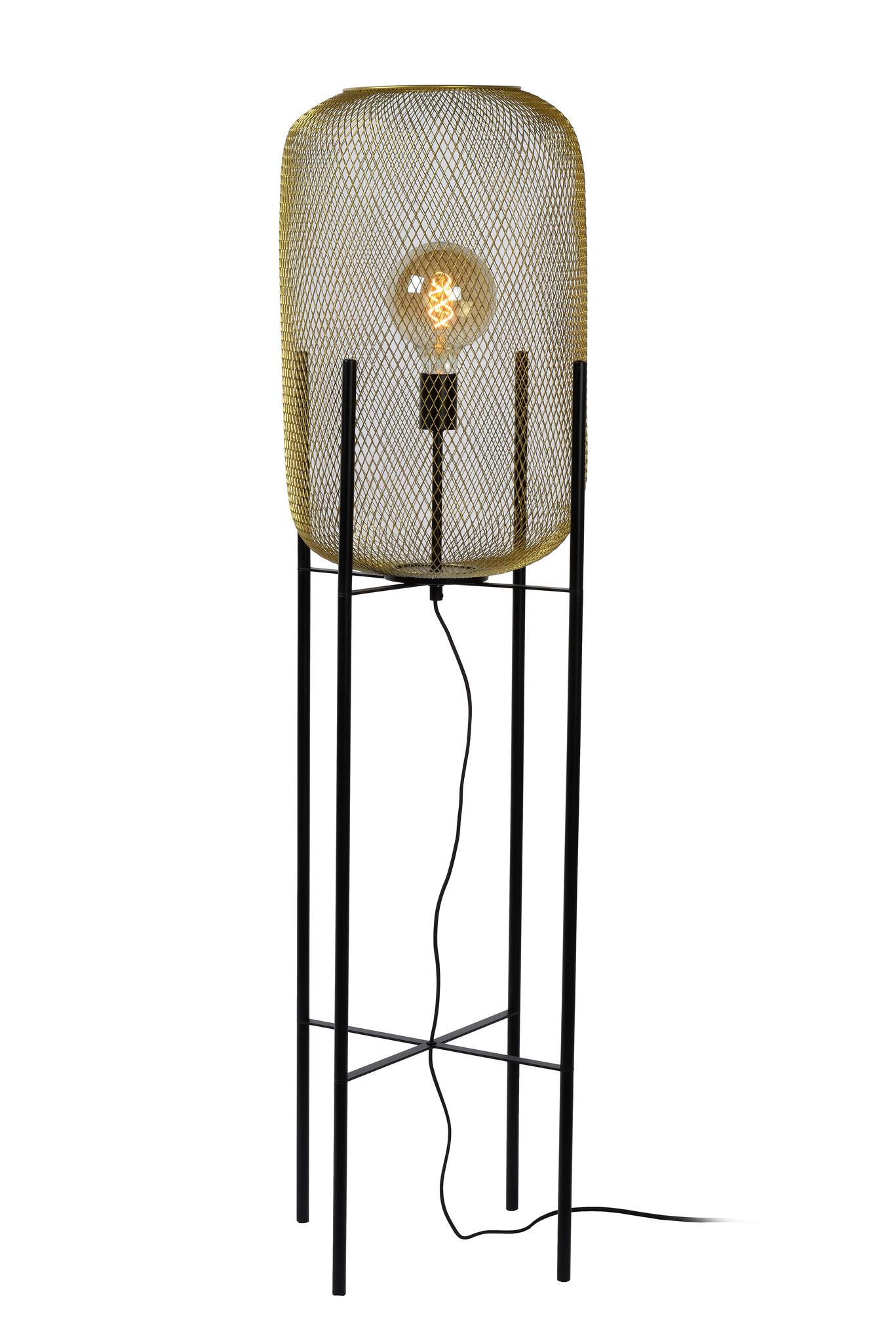 Lucide MESH Vloerlamp Ø39cm E27/40W Mat Goud