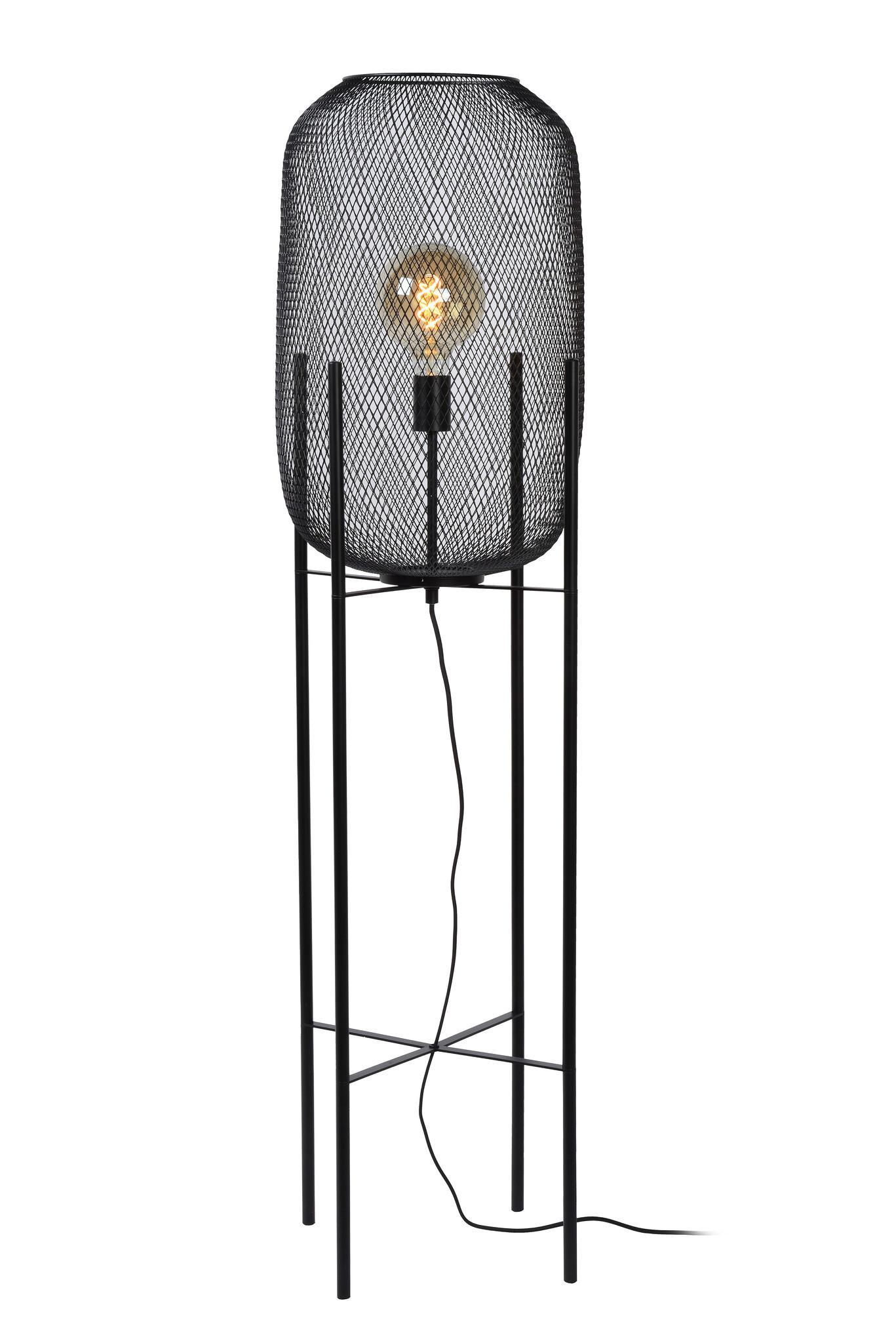 Lucide MESH Vloerlamp Ø39cm E27/40W Zwart