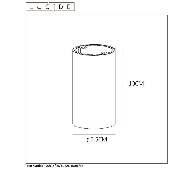 DELTO LED Spot rond GU10/5W Ø5.5 DTW H10cm Wit