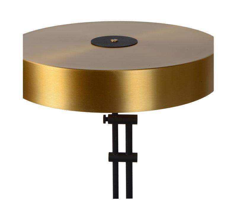 GIADA Vloerlamp 2x E27 /40W Mat Zwart/Mat Goud