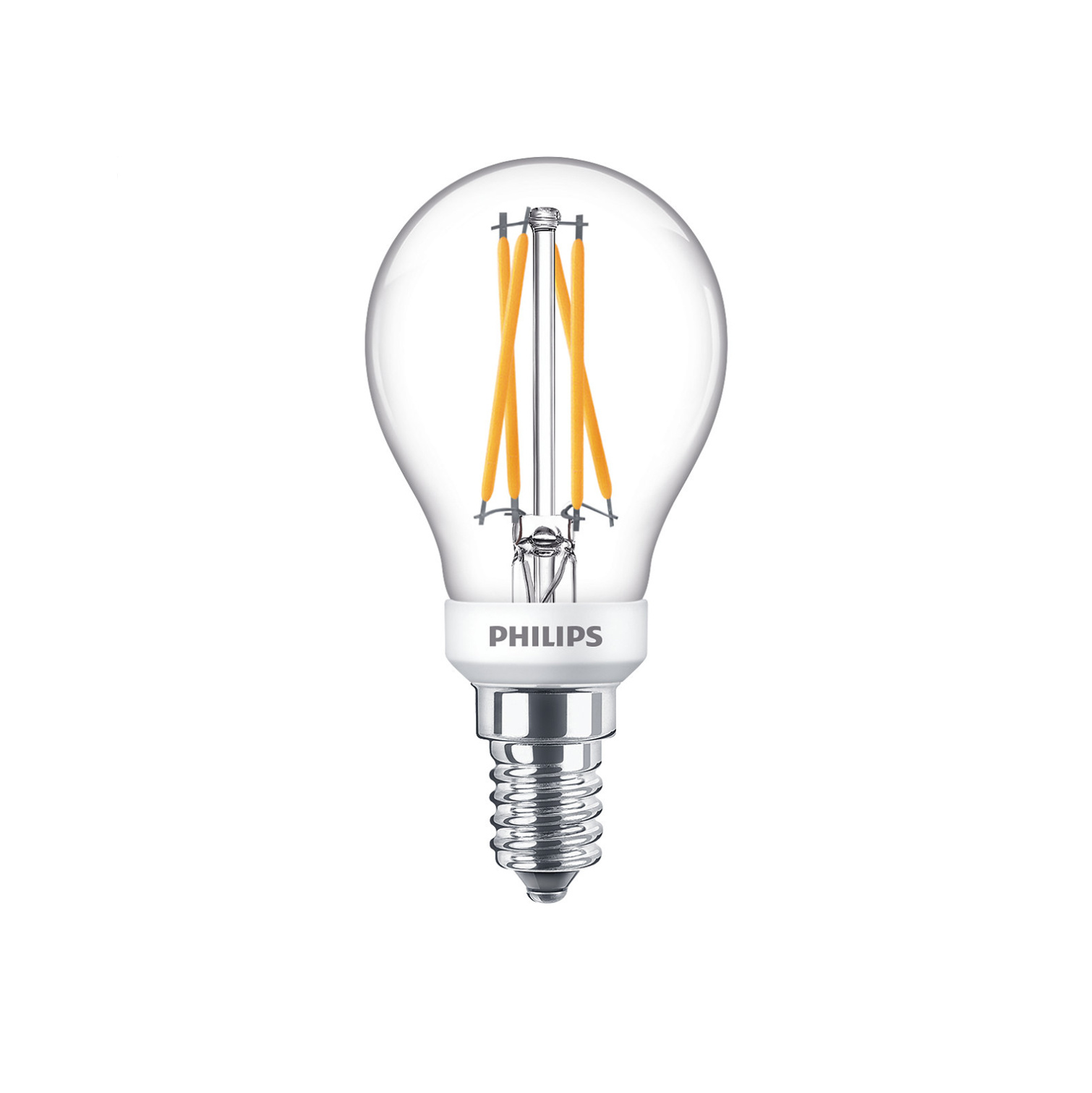 Philips LED E14 kogel 25-3,5 Watt Philips warmglow filament DIM