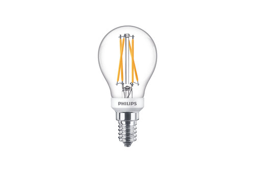Philips LED E14 kogel 40-6 Watt Philips warmglow filament DIM