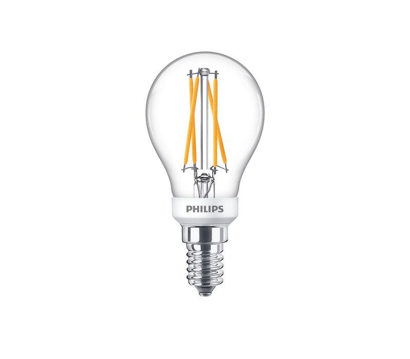 LED E14 kogel 40-6 Watt Philips warmglow filament DIM