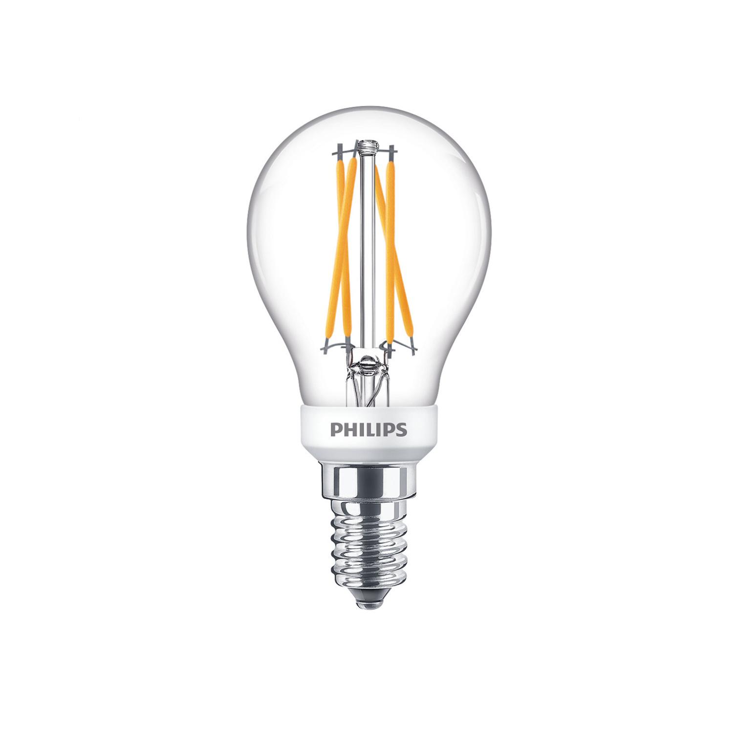Philips LED E14 kogel 40-6 Watt Philips warmglow filament DIM
