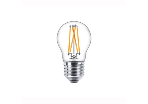 Philips LED E27 kogel 40-6 Watt Philips warmglow filament DIM