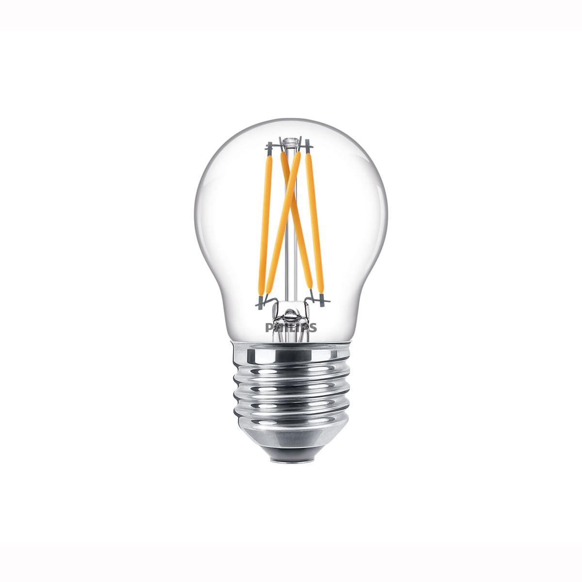 Philips LED E27 kogel 40-6 Watt Philips warmglow filament DIM